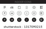 indoor icons set. collection of ...   Shutterstock .eps vector #1317090215