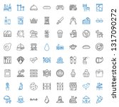 meal icons set. collection of... | Shutterstock .eps vector #1317090272