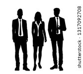 set of vector silhouettes of ... | Shutterstock .eps vector #1317092708