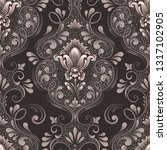 vector damask seamless pattern... | Shutterstock .eps vector #1317102905