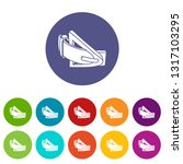 fashion belt icons color set... | Shutterstock .eps vector #1317103295