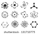 atomic icons | Shutterstock .eps vector #131710775