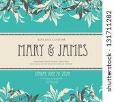 wedding invitation cards | Shutterstock .eps vector #131711282