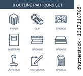 pad icons. trendy 9 pad icons.... | Shutterstock .eps vector #1317116765