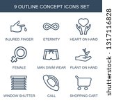 concept icons. trendy 9 concept ... | Shutterstock .eps vector #1317116828