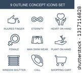 Concept Icons. Trendy 9 Concep...