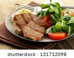 beef steak grilled with fresh... | Shutterstock . vector #131712098