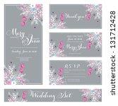 wedding invitation  thank you... | Shutterstock .eps vector #131712428