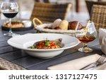 duck confit leg with white bean ... | Shutterstock . vector #1317127475