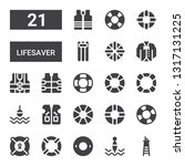 lifesaver icon set. collection... | Shutterstock .eps vector #1317131225