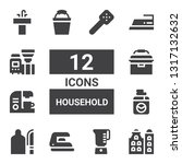 household icon set. collection... | Shutterstock .eps vector #1317132632