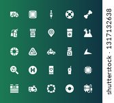 emergency icon set. collection... | Shutterstock .eps vector #1317132638