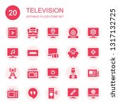 television icon set. collection ... | Shutterstock .eps vector #1317132725