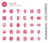 filled icon set. collection of... | Shutterstock .eps vector #1317134015