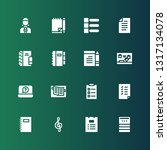 notepad icon set. collection of ...   Shutterstock .eps vector #1317134078