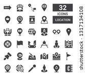 location icon set. collection... | Shutterstock .eps vector #1317134108