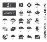 comfort icon set. collection of ... | Shutterstock .eps vector #1317136892