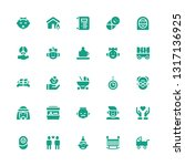 family icon set. collection of... | Shutterstock .eps vector #1317136925