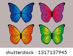 vibrant and colorful...   Shutterstock .eps vector #1317137945