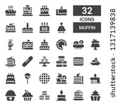 muffin icon set. collection of... | Shutterstock .eps vector #1317139838