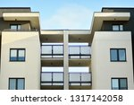 modern white building with... | Shutterstock . vector #1317142058