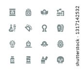 death icon set. collection of... | Shutterstock .eps vector #1317142532