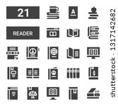 reader icon set. collection of... | Shutterstock .eps vector #1317142682