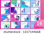 vector people character. mother ... | Shutterstock .eps vector #1317144668