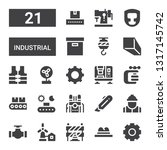 industrial icon set. collection ... | Shutterstock .eps vector #1317145742