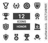 honor icon set. collection of... | Shutterstock .eps vector #1317148985