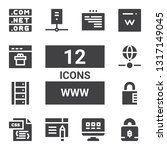 www icon set. collection of 12...   Shutterstock .eps vector #1317149045