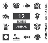 animal icon set. collection of... | Shutterstock .eps vector #1317151538