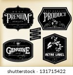 Stock vector vintage labels 131715422