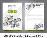 abstract flyer template.... | Shutterstock .eps vector #1317158645