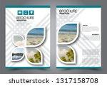 abstract flyer template.... | Shutterstock .eps vector #1317158708