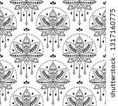 indian lotus flower vector... | Shutterstock .eps vector #1317160775
