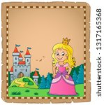 princess topic parchment 3  ... | Shutterstock .eps vector #1317165368