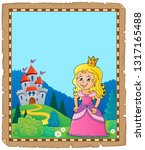 princess topic parchment 2  ... | Shutterstock .eps vector #1317165488