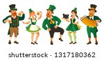 the people in green clothes... | Shutterstock .eps vector #1317180362