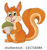 image with squirrel theme 1  ... | Shutterstock .eps vector #131718386