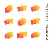 vector dialog speech bubbles ... | Shutterstock .eps vector #1317185732