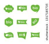eco food logo design  healthy... | Shutterstock .eps vector #1317185735