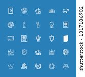 editable 25 insignia icons for... | Shutterstock .eps vector #1317186902