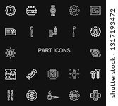 editable 22 part icons for web...   Shutterstock .eps vector #1317193472