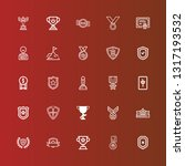 editable 25 honor icons for web ... | Shutterstock .eps vector #1317193532