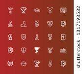 editable 25 honor icons for web ... | Shutterstock .eps vector #1317193532