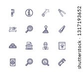 editable 16 manual icons for... | Shutterstock .eps vector #1317193652