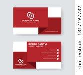 red white business card | Shutterstock .eps vector #1317197732