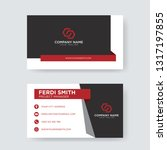 professional business card | Shutterstock .eps vector #1317197855