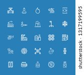 editable 25 fuel icons for web... | Shutterstock .eps vector #1317199595